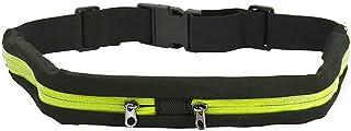 comprar comparacion FYSHOP Riñonera Running Cinturón Belt Impermeable Belt Cinturón Deportivo con 2 Bolsillos Prueba de Sudor