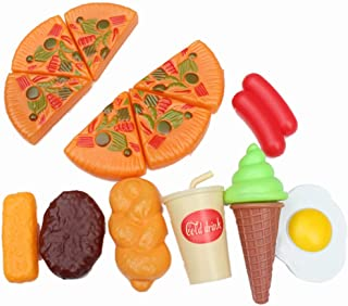 Coxeer Pretend Play Food Set Novelty Play Food Set Kitchen Playing Set for Children