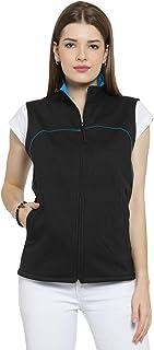 Scott International Cotton Sleeveless Jacket for Women - Black