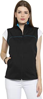 Scott International Cotton Sleeveless Jacket for Women - Black