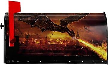 Reign of Fire Mailbox Covers Postpakket Magnetische Wrap Postbox Outdoor Brievenbus Inch EMail Originele Thuis Decoratieve...