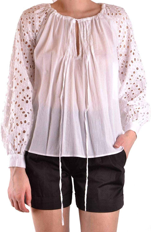 Dondup Women's DC061CF0153PTDPDD000 White Cotton Blouse