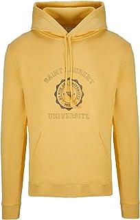SAINT LAURENT Luxury Fashion Mens 551700YBBC27266 Yellow Sweatshirt | Season Permanent