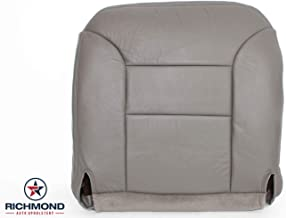 Richmond Auto Upholstery 1995 1996 1997 1998 1999 Chevy Suburban 1500 2500 LT Z71 LS - Driver Side Bottom Replacement Genuine Leather Seat Cover, Gray