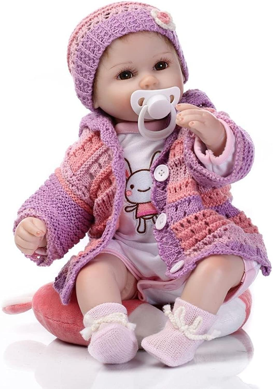 Baby Doll, Toy Gift for Kids Lifelike Reborn Baby Doll Kids Girl Playmate Birthday Gift (40CM)