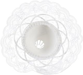 Darice 35020-1 8-Inch Lace Collar Bouquet Holder, 9-Inch, White