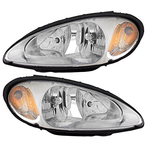 Headlights Headlamps Driver and Passenger Replacements for 01-05 Chrysler PT Cruiser 5288765AI 5288764AI