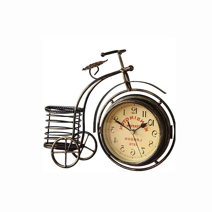 種をまくミリメーターゲートウェイサイレントデスク時計寝室リビングルーム時計装飾庭錬鉄製小さな時計デスクトップ時計金属時計時計