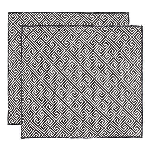 ULABLE Alfombrilla de secado de platos, almohadilla seca de microfibra, escurridor de platos de secado rápido para accesorios de mesa de cocina, lavado a máquina, 46.5 x 41 CM, 2 piezas
