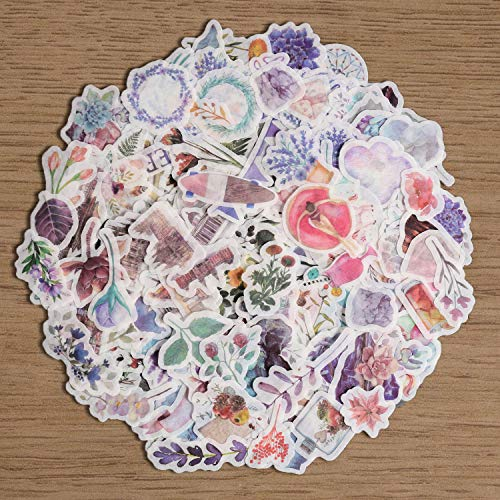 Fancico Washi Sticker Pack,11 Sheet(440pcs) Plant|Flower|Vintage|Botanical|Petals|Galaxy Scrapbooking Sticker for Envelope, Scrapbook,Label Diary,Journal Cute Planners Stickers