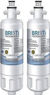 Bristi Refrigerator Water Filter 9690. Compatible LG Models: LT700P, ADQ36006101, ADQ36006102. Compatible Kenmore Models: 9690 & 46-9690. – Replacement for Refrigerators LP-1400P (2 Pack)