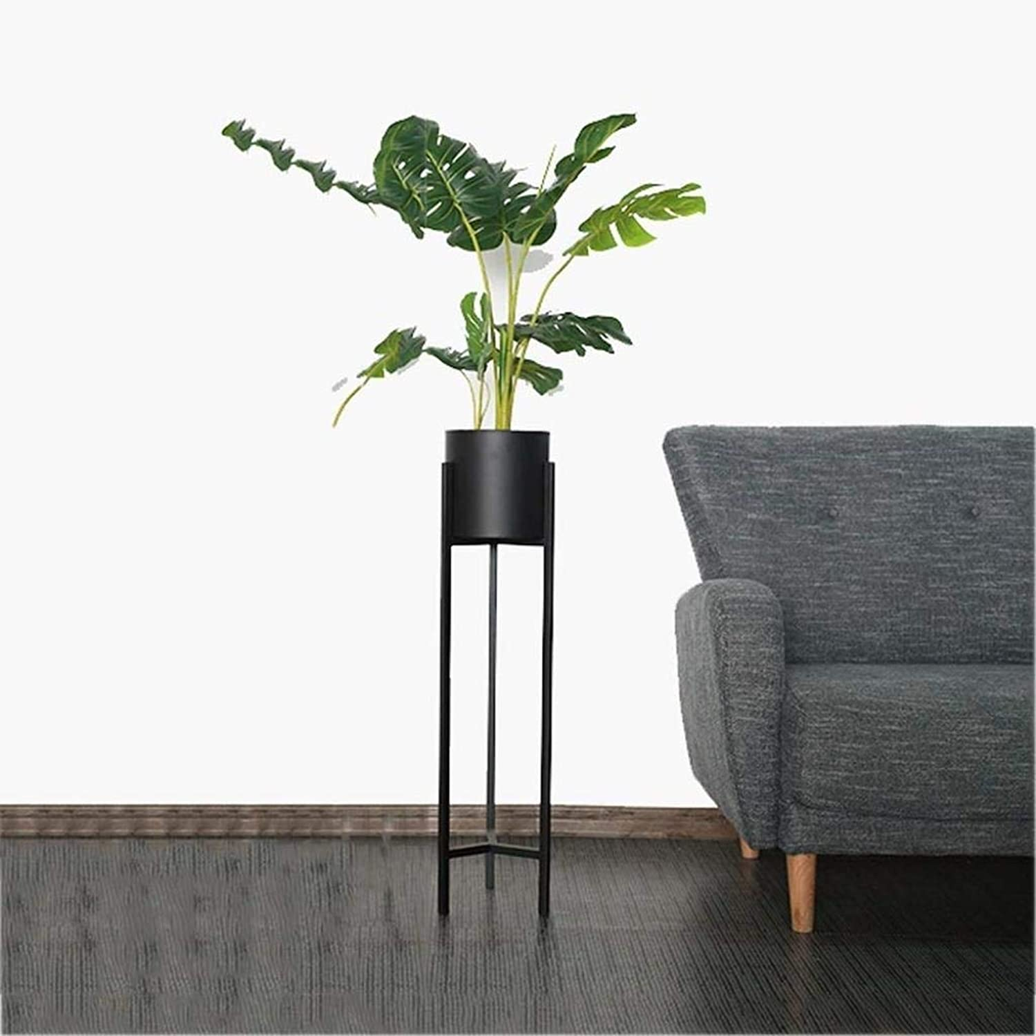 Flower Stand Metal Green Plant Storage Rack Nordic Floor-Standing Household Flower Pot Rack Multi-Layer Simple Bonsai Display Stand Flower Rack Rack (color   Black, Size   60  20cm)
