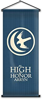 Varity Game of Thrones House Arryn Flag Banners Wall Scroll Home Decor Tapestry Hanging Poster Gifts 17.7x43.3 Inch