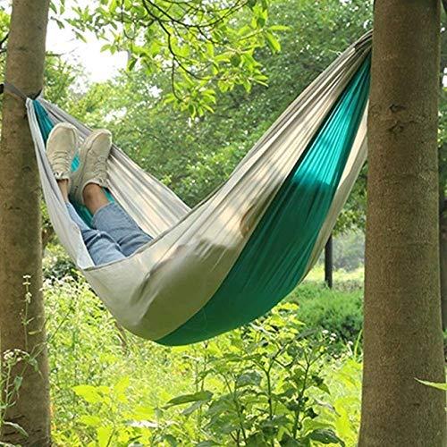 Toile Hamac Portable Jardin Balançoire Campi Randonnée Camping 240cm Hamac sécurité en nylon Portable Parachute Hamac Chaise Hanging Balançoire extérieure Double personne Loisirs Hamak ( Color : B )