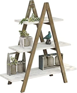 YYFANG Etagère à Fleurs, Support de Pot de Fleur en Bois Massif, Structure Triangulaire Antique et Ancien Roulement Solide...