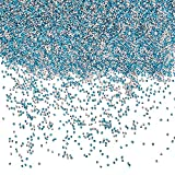 WANDIC 200 gramos acrílico azul decoración piedra, 4 mm azul claro acrílico decoración piedras perlas acrílico mini gemas azules para jarrón relleno acuario decoración jardín decoración