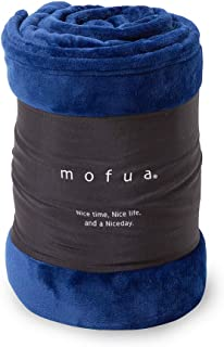 mofua(モフア) 毛布 シングル オールシーズン快適 エアコン対策 マイクロファイバー 洗える 140×200cm ネイビー 50000107