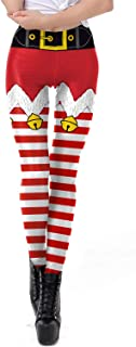 GLUDEAR Women's Ugly Christmas Printed Full-Length Yoga Workout High Waisted Leggings Pants