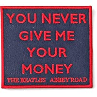 BEATLES ビートルズ (来日55周年記念) - Your Never Give Me Your Money/SONG TITLES/ワッペン 【公式/オフィシャル】