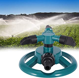 Watering Equipment Garden Sprinklers Automatic Watering Grass Lawn 360 Degree 3 Nozzle Circle Rotating Irrigation System