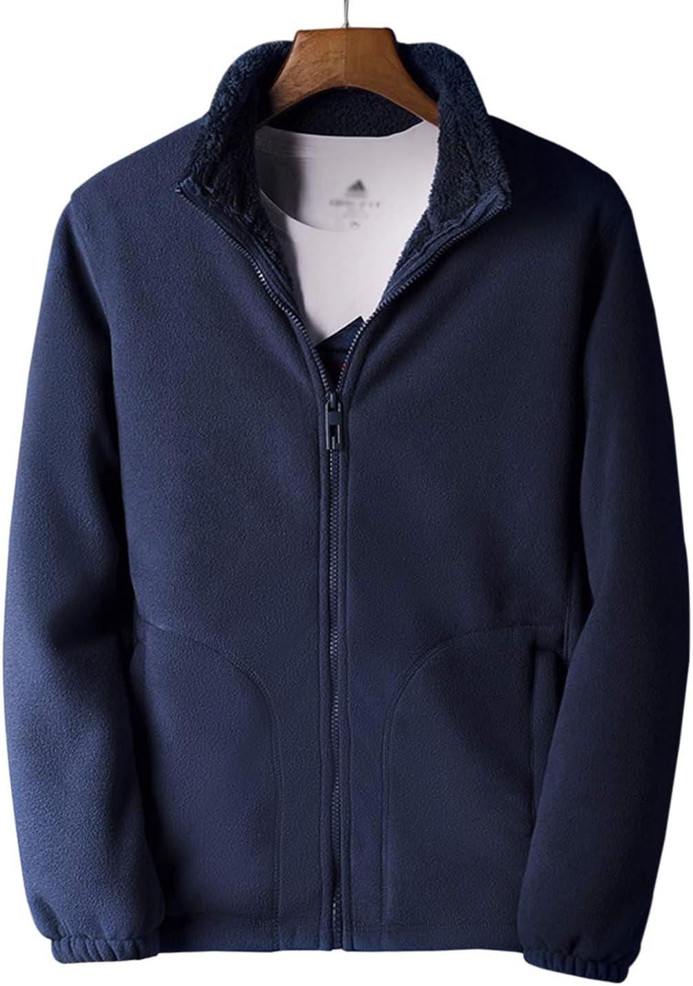 Gihuo Men's Casual Active Sherpa Lined Fleece Jacket