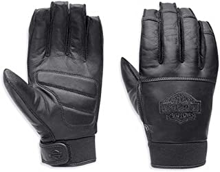 Harley-Davidson Men's Valve Full-Finger Leather Gloves, Black. 98325-15VM