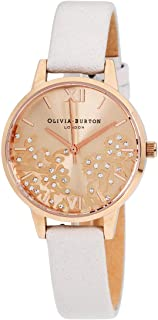 Olivia Burton Bejewelled Lace Quartz Movement Silver Dial Ladies Watch OB16MV101
