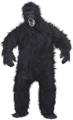 NET TOYS Costume gorille noir max. 180 cm - costume de singe - costume de gorille - costume intégral - singe - costume de singe