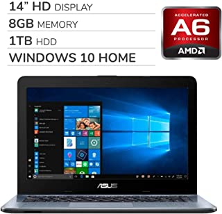 ASUS 2019 Premium 14'' HD Laptop Notebook Computer, 2-Core AMD A6-9225 2.6GHz, 8GB RAM, 1TB HDD,...