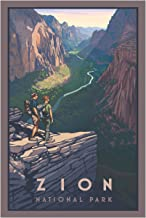 Northwest Art Mall Zion Canyon Zion National Park Travel Art Print Poster by Paul Leighton (12 x 18)