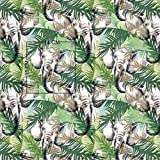 Pingianer 11,99€/m Tiger Zebra Elefant Wilde Tiere 100%