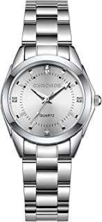 Chronos Women Girls Waterproof Stainless Steel Quartz Watch Round Analog Blue Silver Pink Lady Steel Watch
