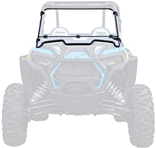 SuperATV Flip Down/Folding/Tilt 2-IN-1 Windshield for Polaris RZR XP 1000/4 1000 (2019+) - Clear Scratch Resistant (Hard Coated)
