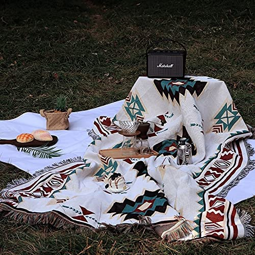 OUMIFA Nordic Style All stores are sold Outdoor Portable Mat Bohemian Knitted Las Vegas Mall Picnic