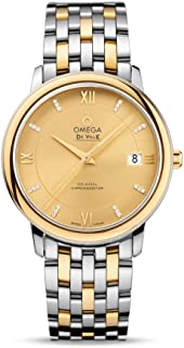 De Ville Prestige Champagne Dial Stainless Steel and 18kt Gold Mens Watch 42420372058001