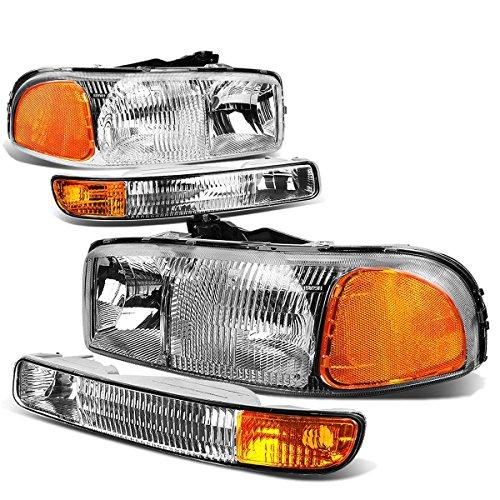 DNA Motoring HL-OEM-SIE99-4P-CH-AM Headlight (Driver & Passenger Side)