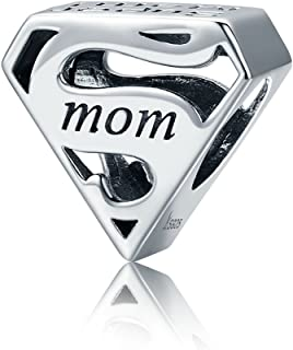 Everbling I Love Mom Mother Family Angel 925 Sterling Silver Bead Fits Pandora Charm Bracelet