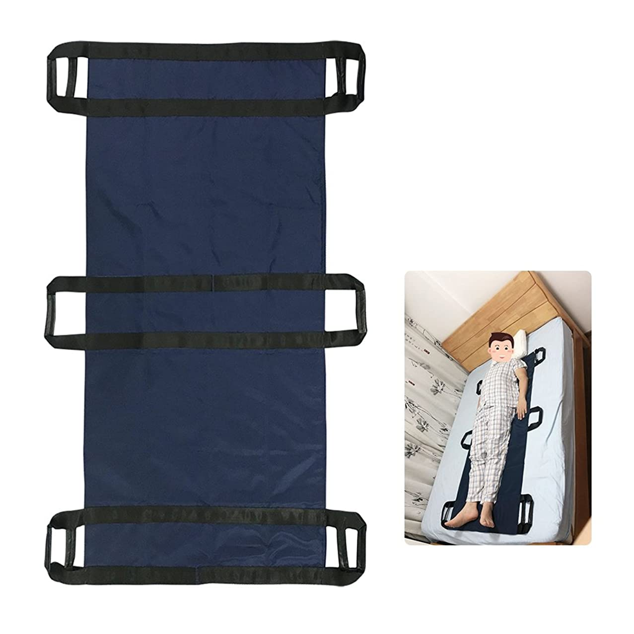 Transfer Boards Slide Belt Patient Lift Bed Assistance Devices Bariatric Hospital Bed Sheets Patient Transport Medical Lift Sling Positioning Pad (6 Handle) yjzqaaolwm746