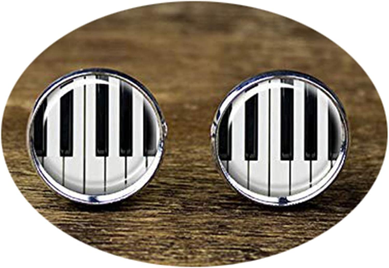 Death Devil Handmade Cuff Links,Piano Cufflinks, Music Instrument Cufflinks, Piano Jewelry,Gift of Love