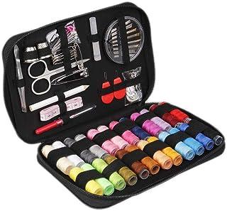裁縫セット ソーイングセット 裁縫道具 手縫い針 手芸 裁縫 家庭用 男女兼用 24色縫い糸あり 裁縫道具セット ブラック収納バッグ付き (黒)