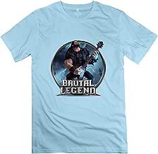 Men's Brutal Legend Game Short Sleeve T Shirt Size S SkyBlue