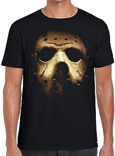 Funky NE Ltd Jason Voorhees Halloween Mask - Friday 13th - Horror - Tshirt - 100% Cotton - Small to XXL - 1 Colour - Great Gift Idea