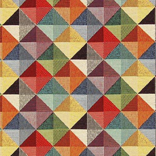 Gobelin Große Dreiecke — Meterware ab 0,5m — zum Nähen von Kissen/Tagesdecken, Tischdekoration & Taschen