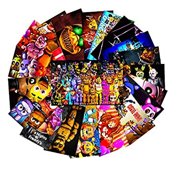 GTOTd Horror Stickers for Five Nights at Freddy s 20Pcs.Gifts FNAF Merch Parrty Supplies Sticker Decals of Vinyls for Laptop WindowGift Skateboard etc