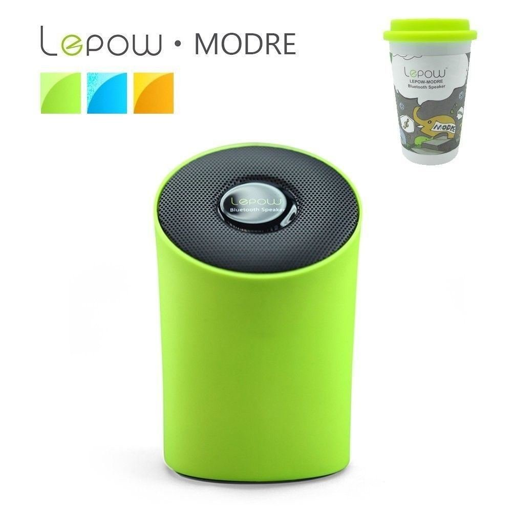 Lepow Modre Portable Wireless Bluetooth Speaker with Built in Microphone (Green)