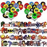 JINGYOU Supereroi Palloncini per Bambini,Supereroi Decorazioni per Palloncini,Supereroi Avengers Feste per Decorazioni per Feste a Tema di Compleanno per Bambini