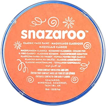 Snazaroo SZ1118551 Apricot Classic Body Paint-1 Pc, 18 ml