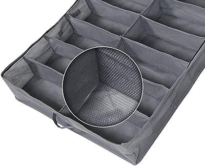 Set di 2 contenitori per scarpe sotto il letto, per un totale di 24 paia di scarpe – soluzione per riporre le scarpe sotto il letto