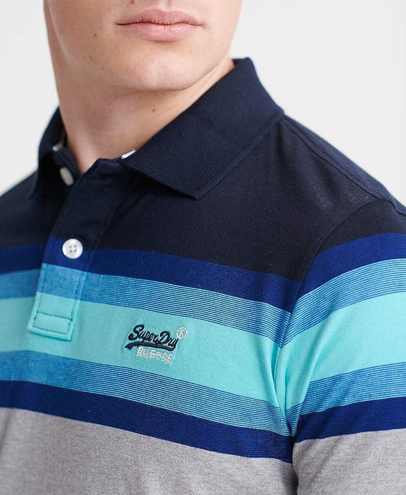 Superdry Organic Cotton Malibu Stripe Polo Shirt