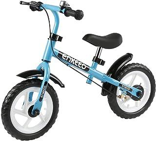 ENKEEO Bicicleta sin Pedales Equilibrio para Niños Infantiles (con Timbre y Freno, Altura Ajustable